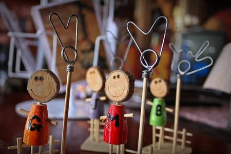 marioneta de madera: Marioneta de madera para el clip