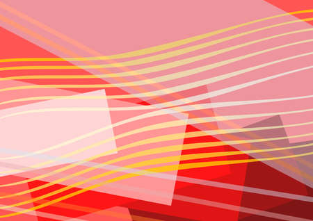 Composition from colourful small and large rectangles, transparent lines  Stock Photo