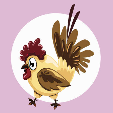 Illustration of a fat hen on the background Vector