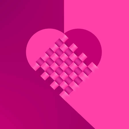 Illustration of Heart for valentines day and wedding Vector
