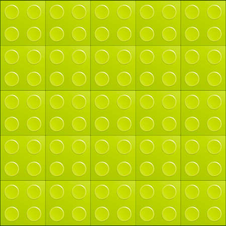 Illustration of the lego brick green background