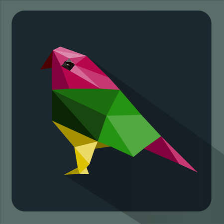 Colorful abstract  bird with geometric  composition Vector