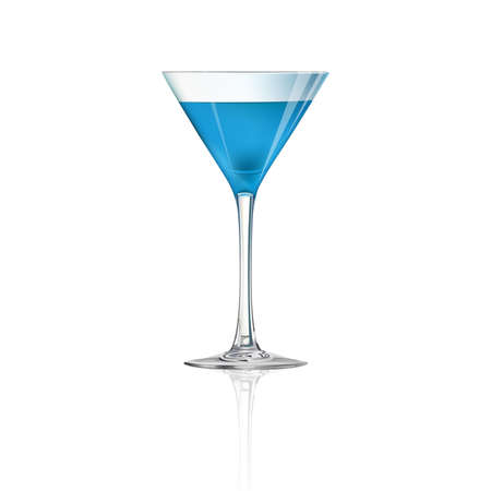 Cocktail isolated on white background, vector illustration.