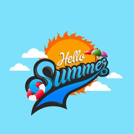 Summer logo, Summer time, enjoy your holidays, vector illustration. Stock Vector - 76787000