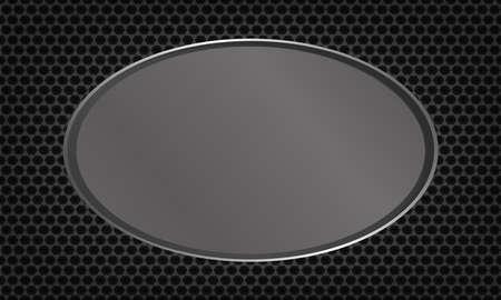 reflection: Modern steel metal plate. Illustration