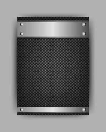 tough: Black iron template steel texture or metal pattern illustration.