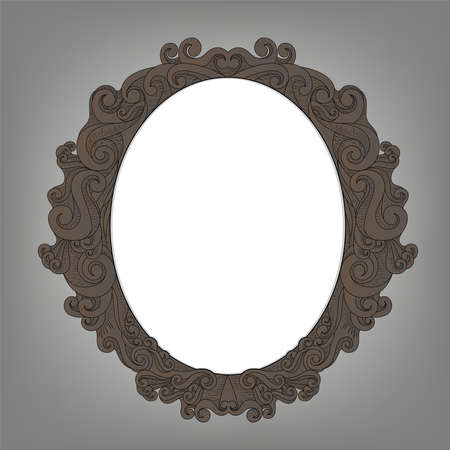oOld frame with empty space for your text input, phto, image. vintage background.