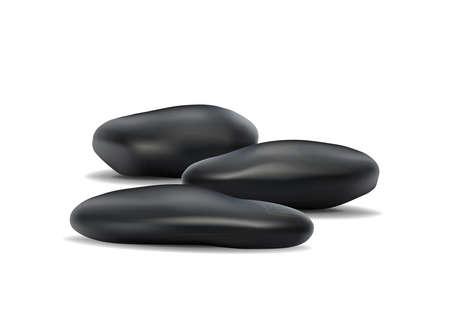 réaliste vecteur 3d pierres zen isolé sur fond blanc Vecteurs