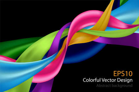 Colorful abstract design background isolated on black. vector illustration. Ilustrace