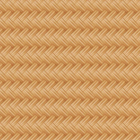 Illustration seamless pattern of Traditional handicraft weave Thai style nature background texture wicker surface for furniture material. Stock Photo