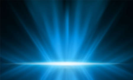 Abstract smooth light blue perspective background. Vector illustration.