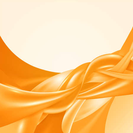 Yellow color abstract design background satin smooth texture. vector illustration.