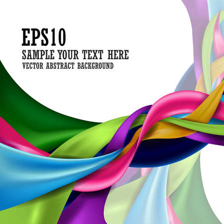 Colorful abstract design background isolated on white background and copy space for text. vector illustration.