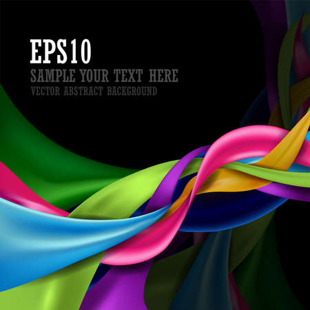 Colorful abstract design background isolated on black background and copy space for text. vector illustration. Ilustrace