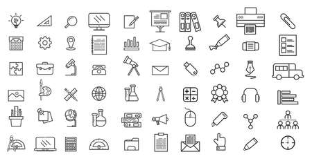 Set of vector line icons for education, Collection modern  and pictogram. Ilustrace