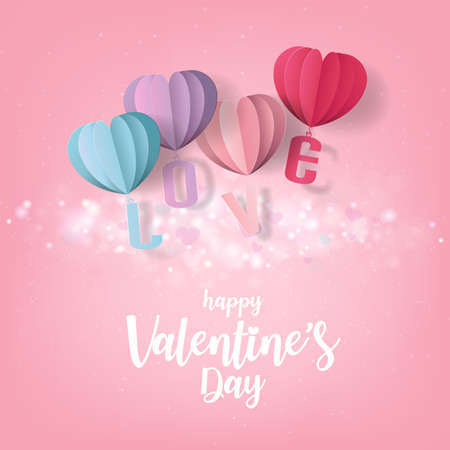 Valentine's Hearts Abstract Pink Background. Valentines Day Wallpaper. Heart Holiday Backdrop, Vector illustration.