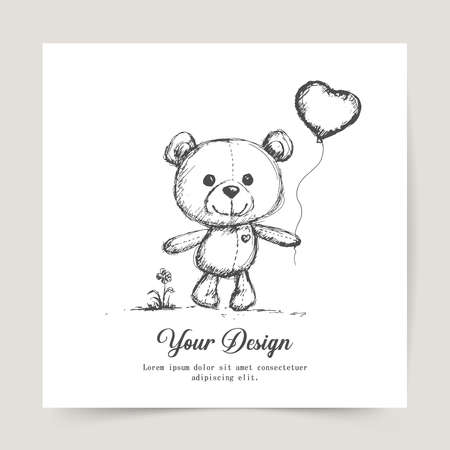 Happy Valentines Day. Greeting card design for print cards, banner, poster.