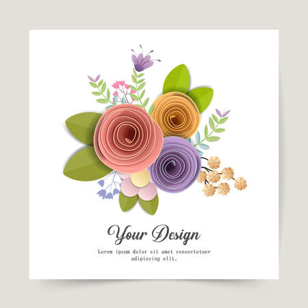 Happy Valentines Day. Greeting card with paper craft design for print cards, banner, poster. Zdjęcie Seryjne - 161186149
