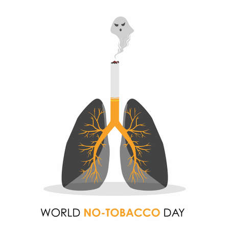 World No Tobacco day, Lung Damage Vectores