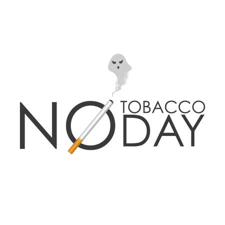 World No Tobacco Day, cigarette in No