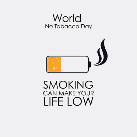 World No Tobacco day, Mobile Battery Version Vectores