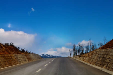 Landscape photo of Freeway in the mountain peak of Yunnan Province China Stock Photo - 12765771