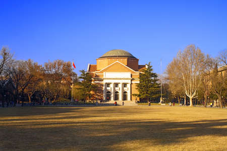 Landscape of Tsinghua University Campus in winter, China, which ranked the No.1 in China College ranking and with a history of over 100 years Editorial