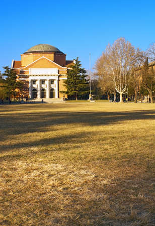 no1: Landscape of Tsinghua University Campus in winter, China, which ranked the No.1 in China College ranking and with a history of over 100 years Editorial