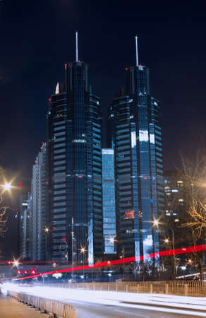 Night view of beijing central business district