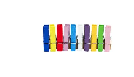 Renk kelepçeler closeup izolasyonu Stock Photo