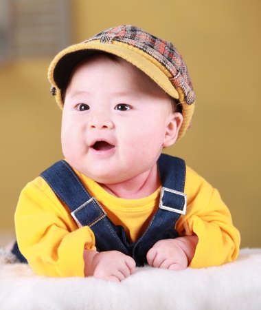 Closeup of a baby boy Stock Photo