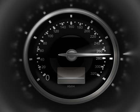 3D Speedometer. rendering ( high resolution )  photo