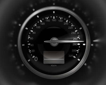 Compteur de vitesse 3D. rendu (haute résolution) Banque d'images - 12092804