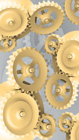 A Mechanical Background with Gears and Cogs 3d  photo