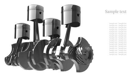 Moteur V8 de fond rendu 3d haute résolution Banque d'images - 12092797