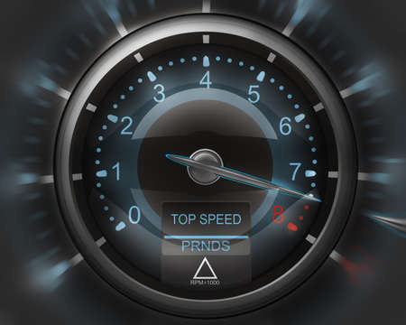 tachometer: Tachometer white 3D render ( high resolution )  Stock Photo