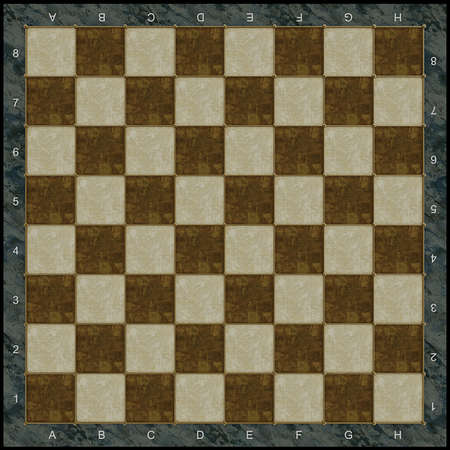 Stone chess board with gold incrustation photo