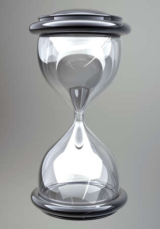 closeup of hourglass in warm Stock Photo - 12980369