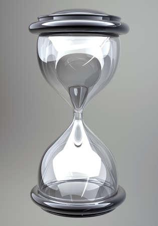 closeup of hourglass in warm Stock Photo - 12980369
