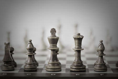 chess game abstract background photo