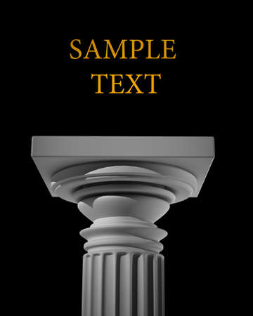 marbles close up: Column Pedestal isolated on black background High resolution 3D Stock Photo
