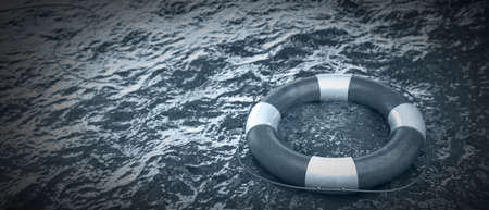 life buoy in the water High resolution photo