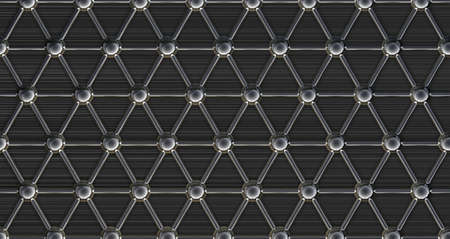 nuclei: simple steel molecular structure on black background 3D