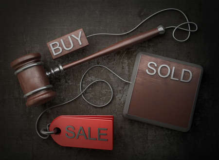Auction gavel High resolution 3D image photo