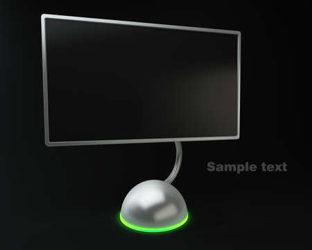 tft: Design Screen on black background High resolution. 3D image