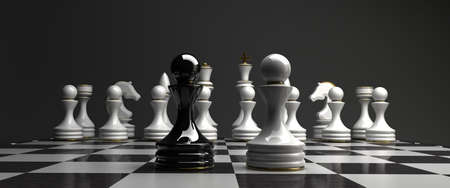 Black vs wihte chess pawn background  high resolution photo