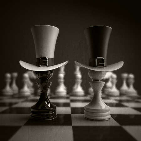 Black vs wihte chess pawn background. high resolution photo