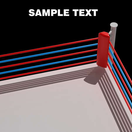 boxing ring: Boxing ring background - 3d render high resolution