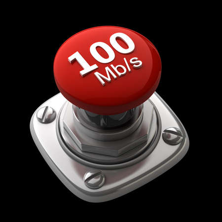 Red button Isolated High resolution. 3D image photo