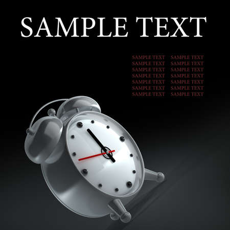alarm clock isolated on black background High reolution 3d Stock Photo - 14431387
